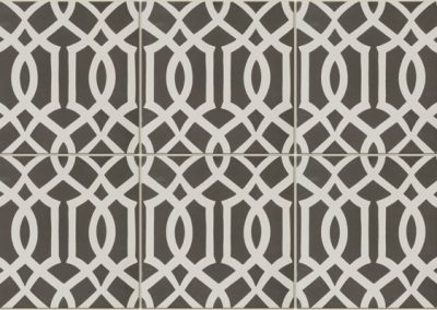 Encaustic Lattice Black