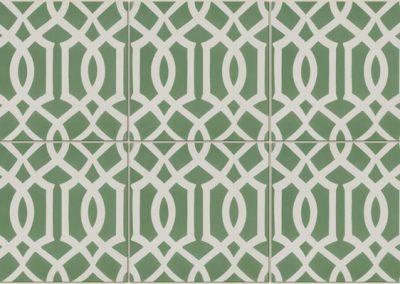 Encaustic Lattice Green