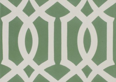 Encaustic Lattice Green