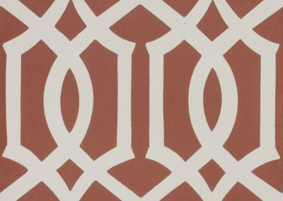 Encaustic Lattice Red