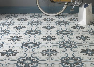 Toulouse Orange Encaustic Lifestyle Tiles